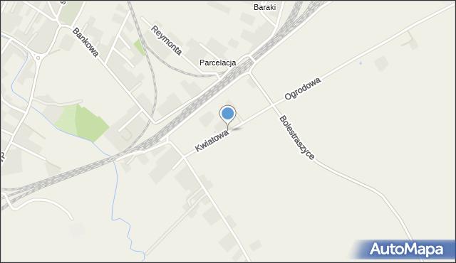Żurawica powiat przemyski, Kwiatowa, mapa Żurawica powiat przemyski