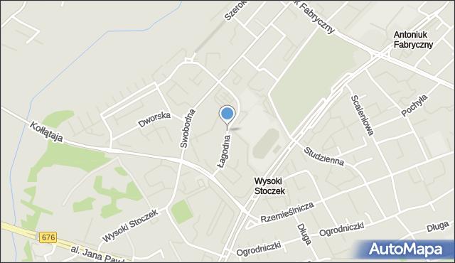Białystok, Łagodna, mapa Białegostoku