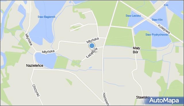 Brzeszcze, Łabędzia, mapa Brzeszcze
