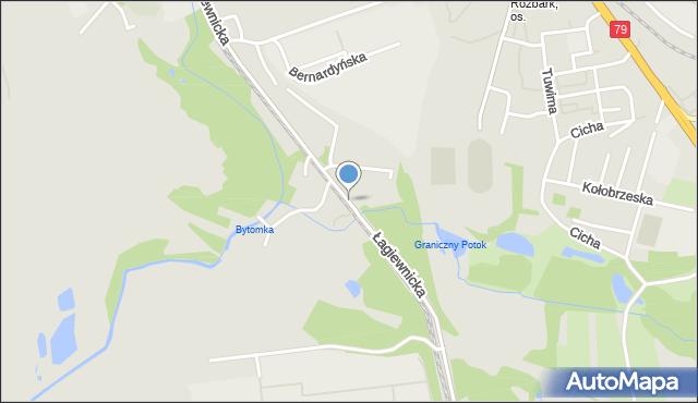 Bytom, Łagiewnicka, mapa Bytomia