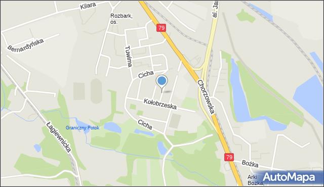 Bytom, Łączna, mapa Bytomia
