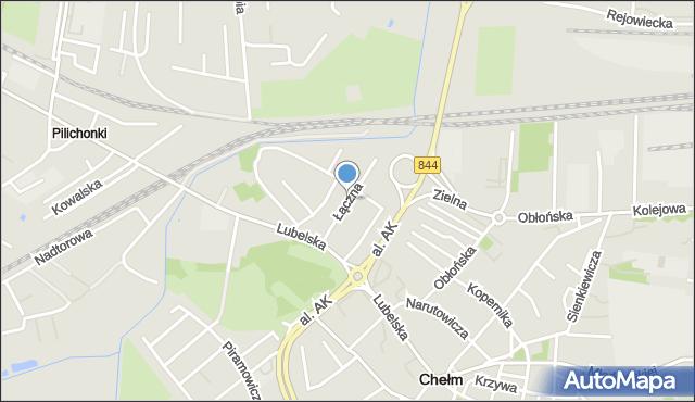 Chełm, Łączna, mapa Chełma