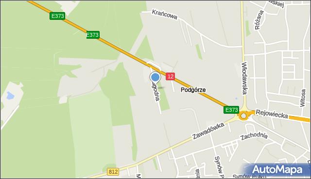 Chełm, Łagodna, mapa Chełma