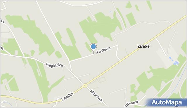 Dobczyce, Laskowa, mapa Dobczyce
