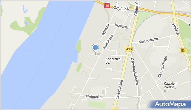 Grudziądz, Landowskiego Leona, dr., mapa Grudziądza