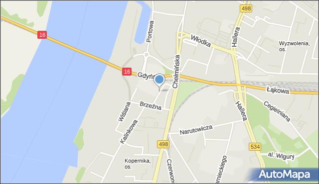 Grudziądz, Laskowicka, mapa Grudziądza