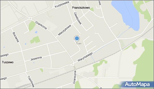 Grudziądz, Lawendowa, mapa Grudziądza