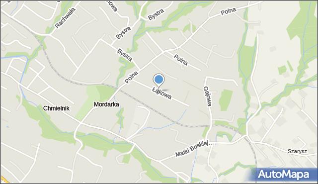 Limanowa, Łąkowa, mapa Limanowa