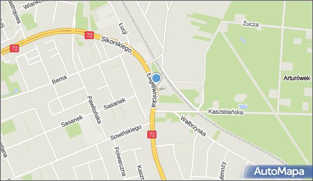Łódź, Łagiewnicka, mapa Łodzi