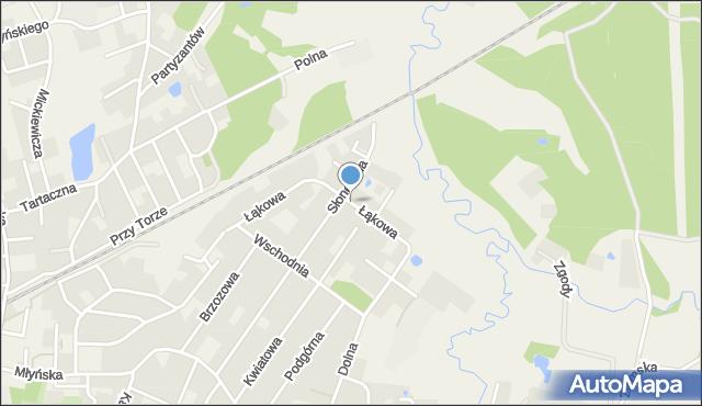 Luzino, Łąkowa, mapa Luzino