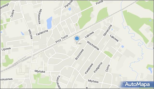 Luzino, Lawendowa, mapa Luzino