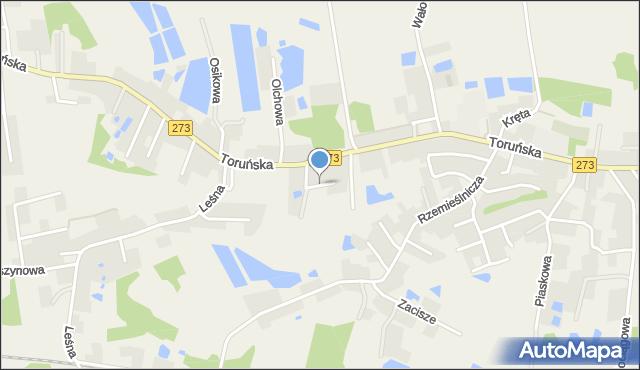 Mała Nieszawka, Łąkowa, mapa Mała Nieszawka