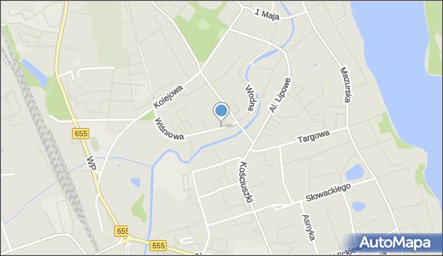 Olecko, Łąkowa, mapa Olecko