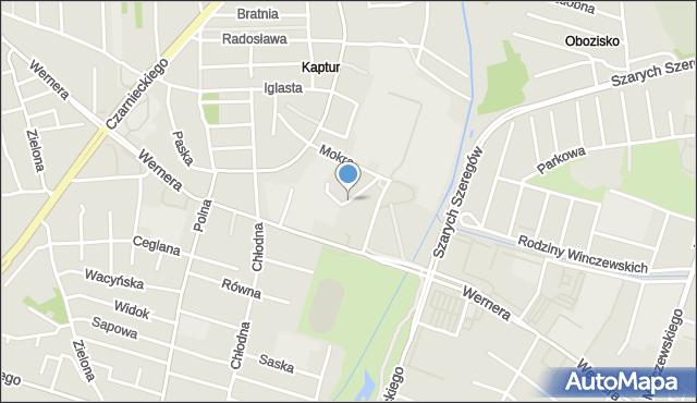 Radom, Łamana, mapa Radomia