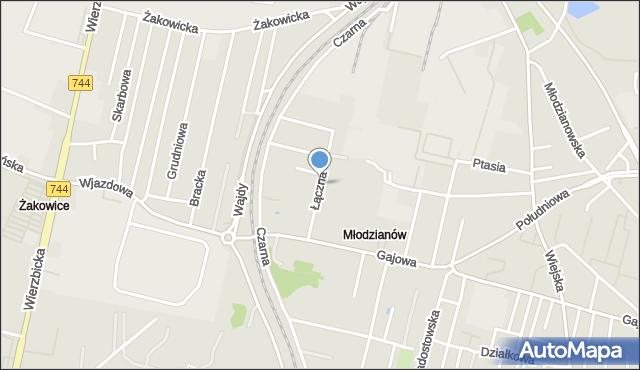 Radom, Łączna, mapa Radomia