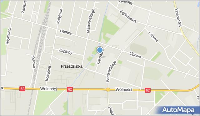 Sokołów Podlaski, Łąkowa, mapa Sokołów Podlaski