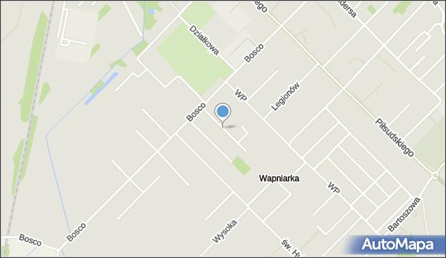 Sokołów Podlaski, Lazurowa, mapa Sokołów Podlaski