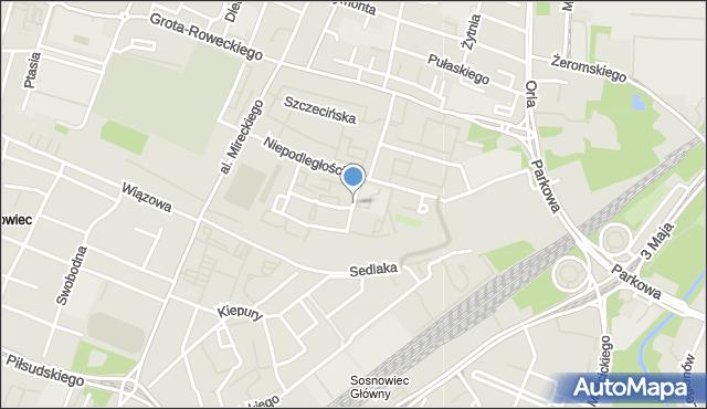 Sosnowiec, Łączna, mapa Sosnowca