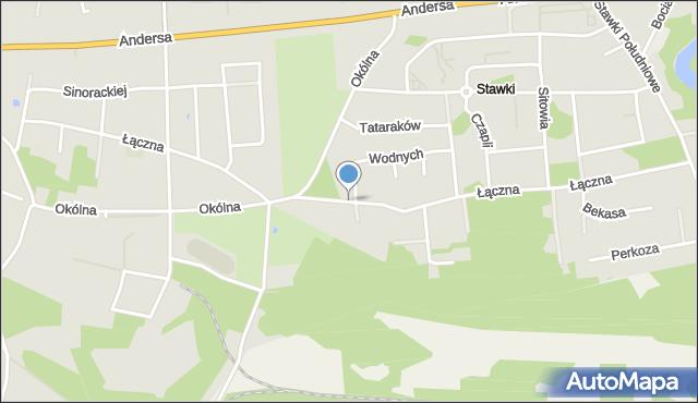 Toruń, Łączna, mapa Torunia