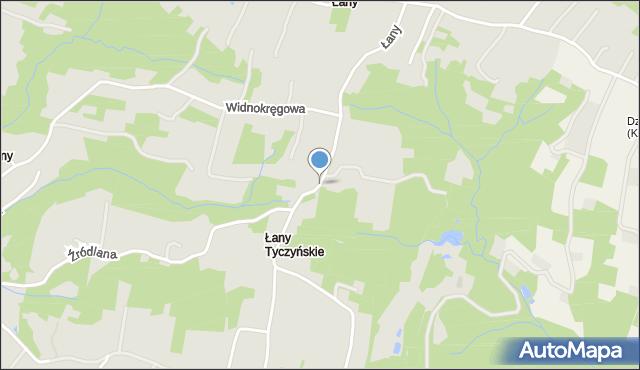 Tyczyn powiat rzeszowski, Łany, mapa Tyczyn powiat rzeszowski
