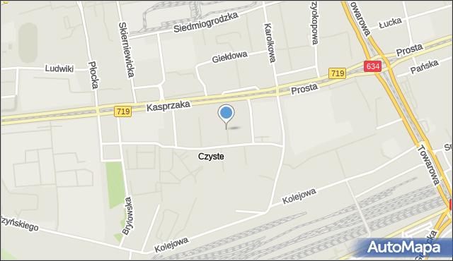 Warszawa, Laskowa, mapa Warszawy