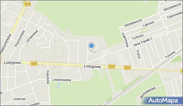 Warszawa, Łany, mapa Warszawy
