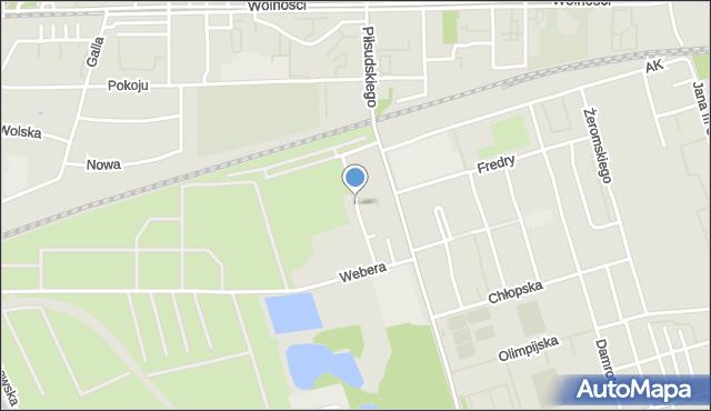 Zabrze, Łangowskiego Jana, mapa Zabrza