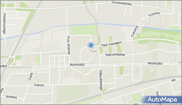 Zabrze, Łanowa, mapa Zabrza