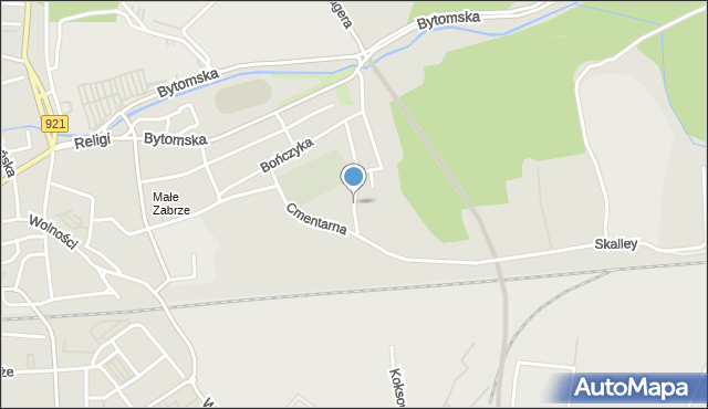 Zabrze, Lazara Antoniego, mapa Zabrza
