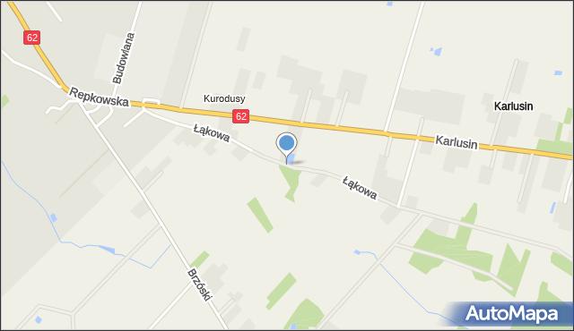 Żanecin, Łąkowa, mapa Żanecin