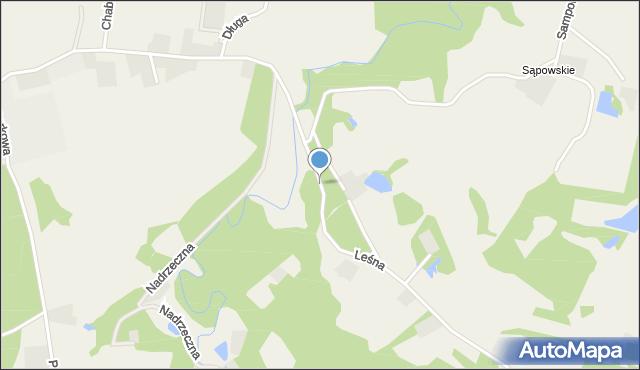 Barłomino, Leśna, mapa Barłomino