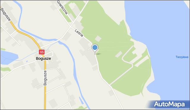 Bogusze gmina Prostki, Leśna, mapa Bogusze gmina Prostki