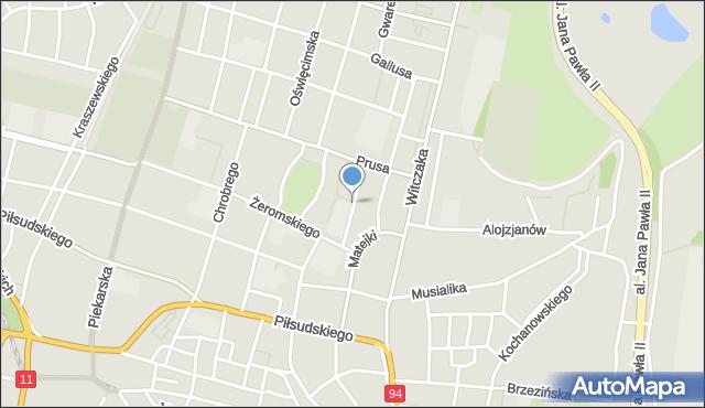 Bytom, Lenartowicza Teofila Aleksandra, mapa Bytomia
