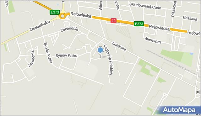 Chełm, Legionów Polskich, mapa Chełma