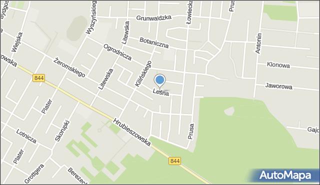 Chełm, Leśna, mapa Chełma