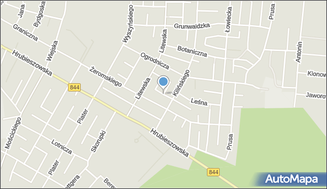 Chełm, Letnia, mapa Chełma