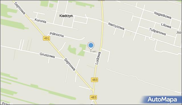 Częstochowa, Leszczynowa, mapa Częstochowy