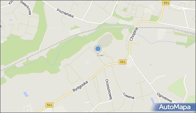 Kętrzyn, Leśna, mapa Kętrzyn