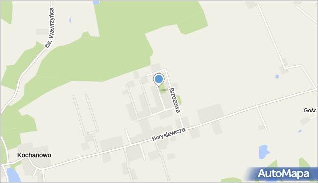 Kochanowo gmina Luzino, Leszczynowa, mapa Kochanowo gmina Luzino