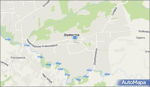 Kraków, Lei Franciszka, mapa Krakowa