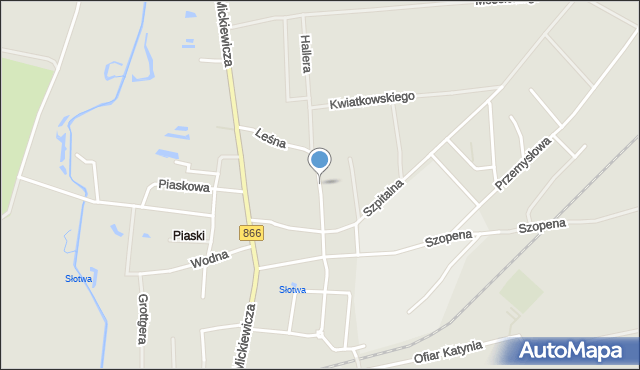Lubaczów, Leśna, mapa Lubaczów