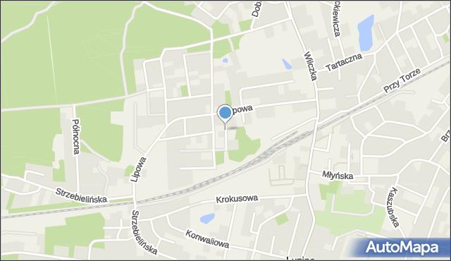 Luzino, Leszczynowa, mapa Luzino