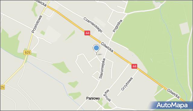 Mikołów, Łęgowa, mapa Mikołów