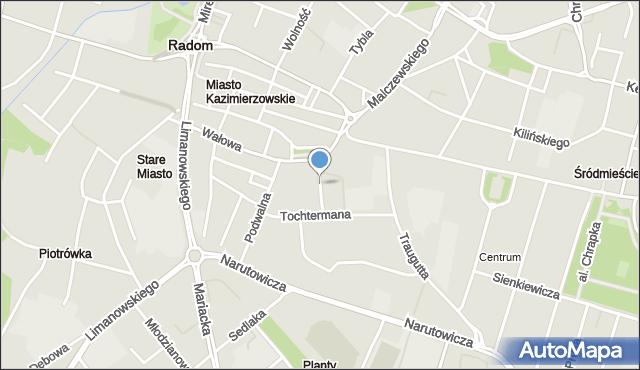 Radom, Lekarska, mapa Radomia
