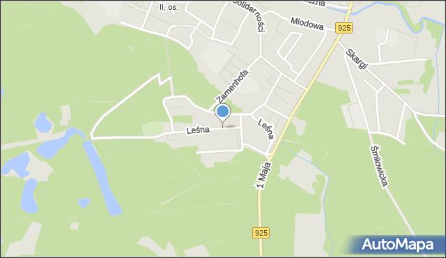 Ruda Śląska, Leśna, mapa Rudy Śląskiej
