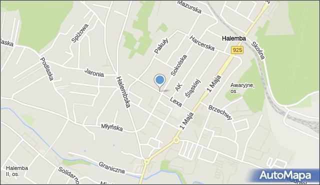 Ruda Śląska, Lexa Pawła, ks., mapa Rudy Śląskiej
