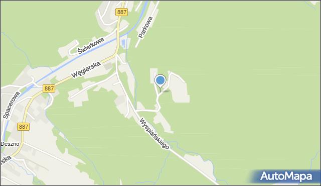Rymanów-Zdrój, Leśna, mapa Rymanów-Zdrój