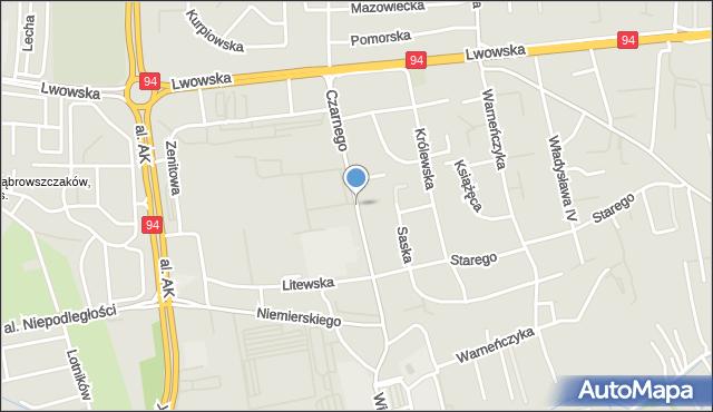 Rzeszów, Leszka Czarnego, mapa Rzeszów