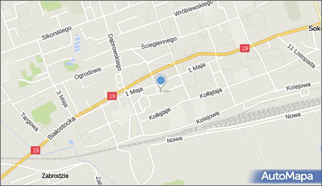 Sokółka, Lelewela Joachima, mapa Sokółka