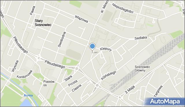 Sosnowiec, Leszno, mapa Sosnowca